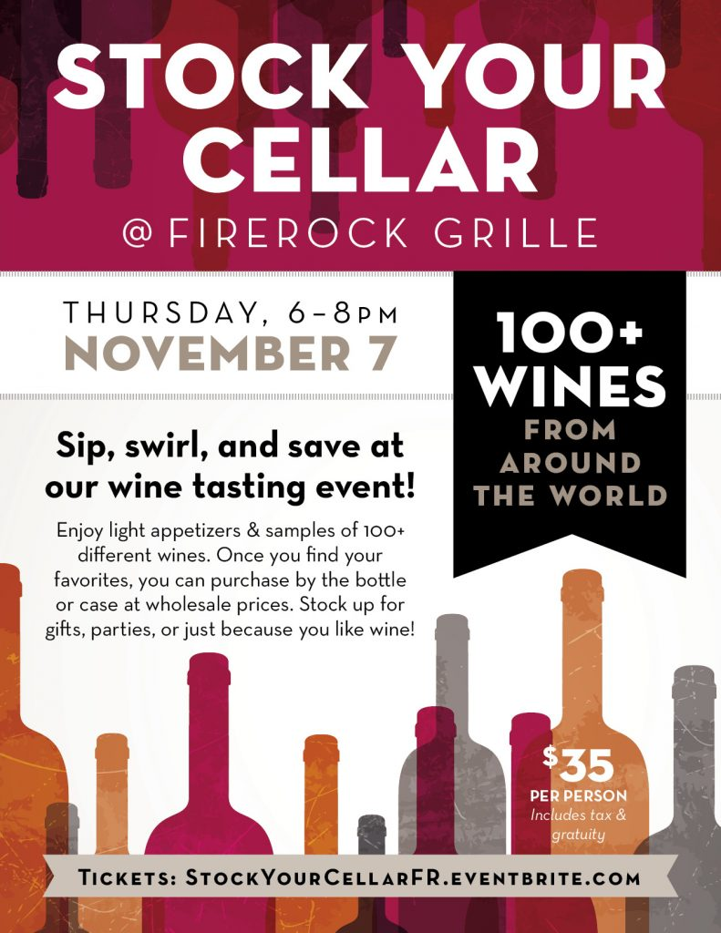 Stock your cellar event at FireRock Grille