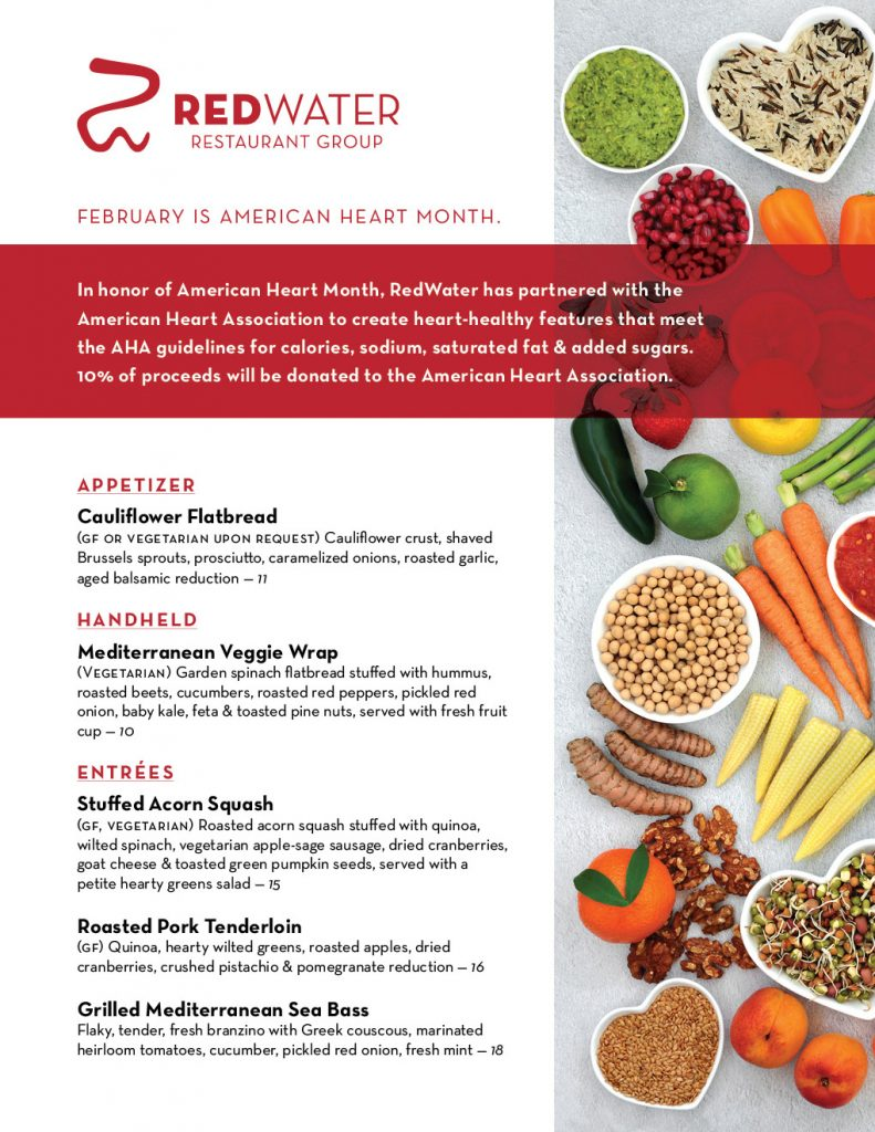 February Heart Health Month Menu